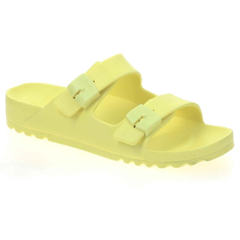 Scholl SHO BAHIA - svetložlté zdravotné papuče
