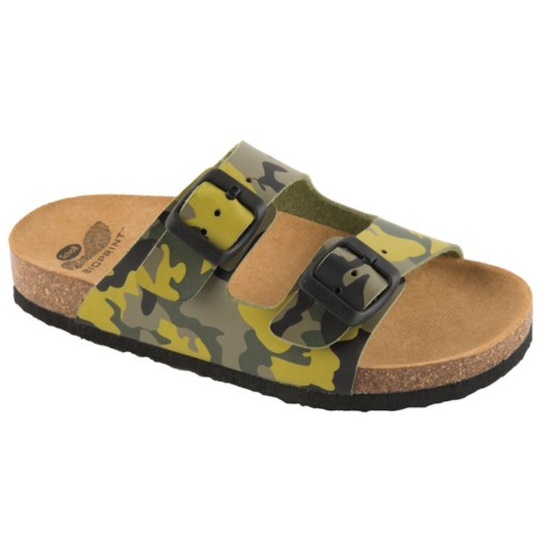Scholl AIR BAG KID - zelené detské zdravotné papuče