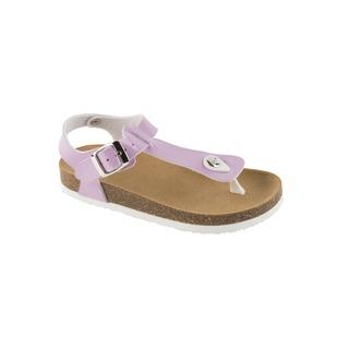 BOA VISTA KID fialové detské zdravotné papuče s pásikom