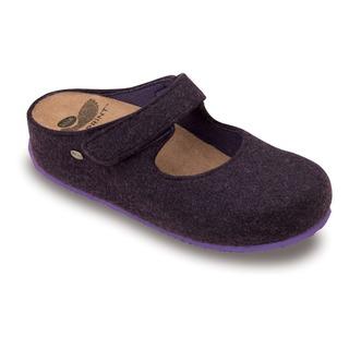 ARTESIA purpurová domáca obuv