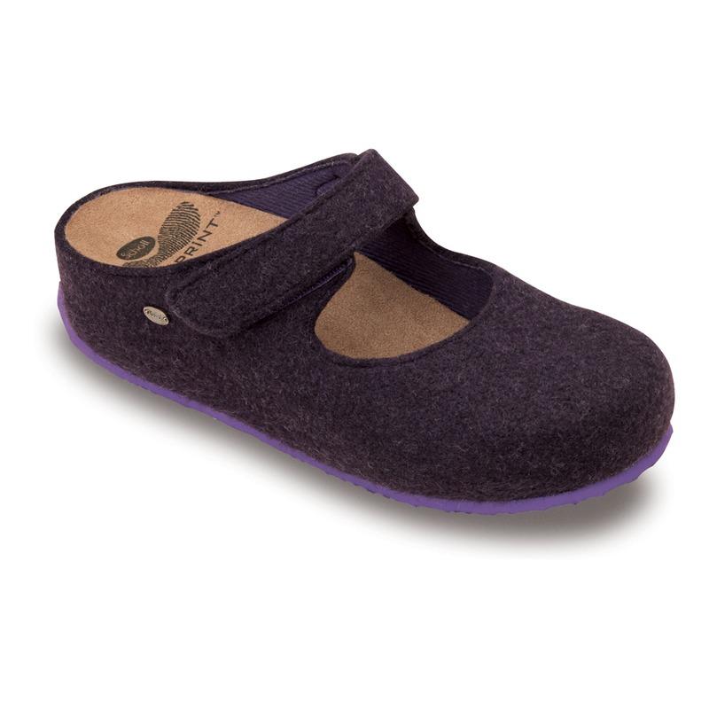 Scholl ARTESIA purpurová domáca obuv