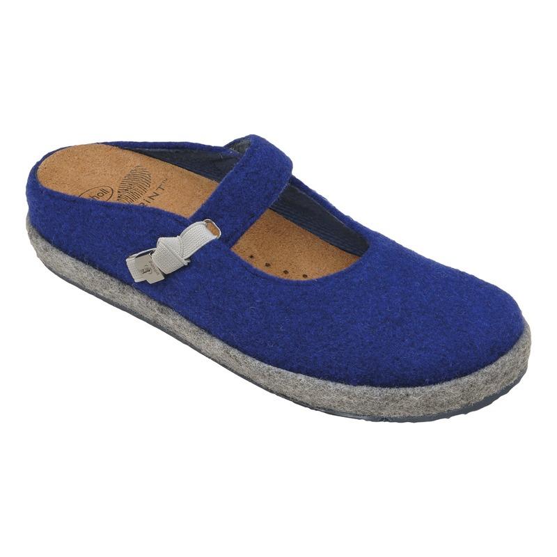 Scholl IKIKE modrá / béžová domáca obuv