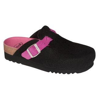 Amiata BRAID čierna / ružová domáca obuv