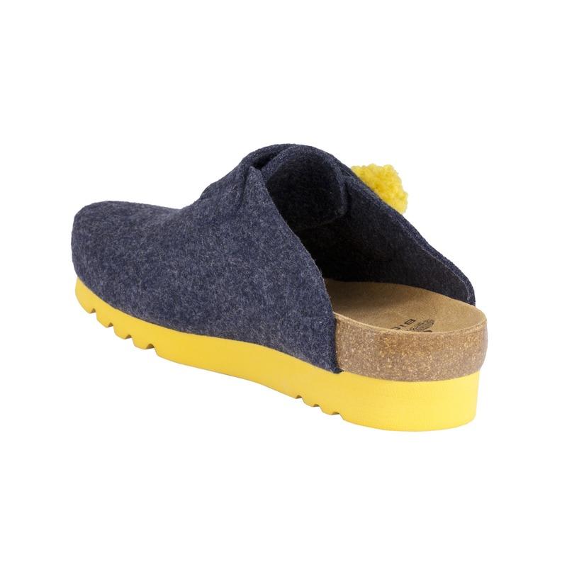Scholl Elvy tmavo modrá domáca obuv