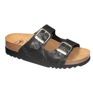 Mälaren čierne zdravotné papuče (model 2019)