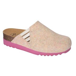 MINA ružová domáca obuv