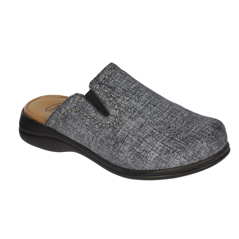 Scholl NEW Toffee tmavo šedá domáca obuv