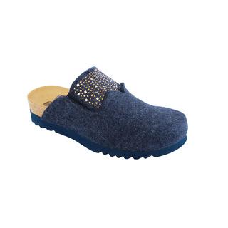 SANAKE tmavo modrá domáca obuv