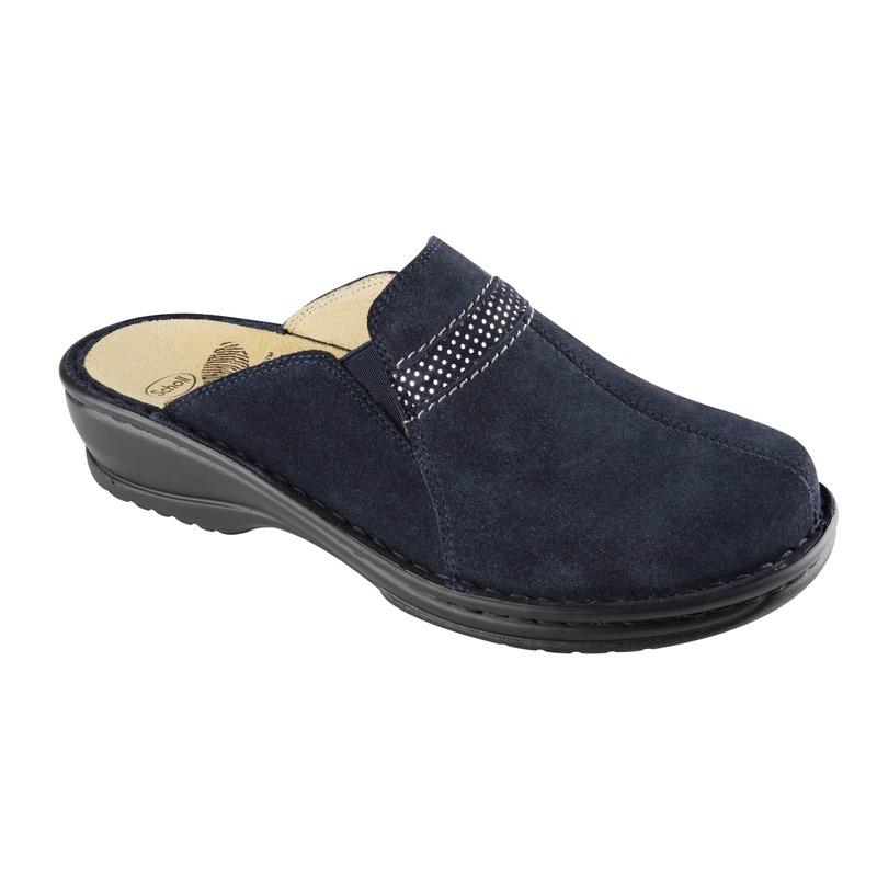 Scholl Zinal modrá domáca obuv