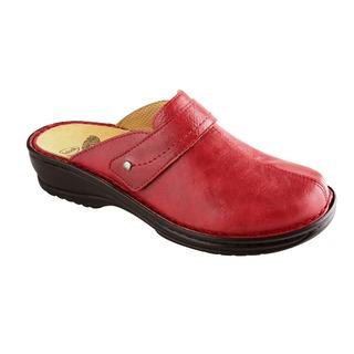 Lenkou červená domáca obuv