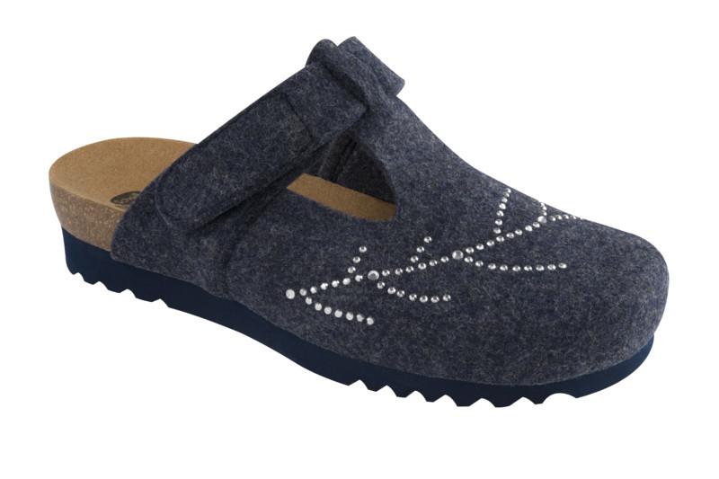 Scholl FOTINIA tmavo modrá domáca obuv