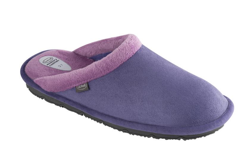 Scholl NEW Brienne fialová domáca obuv