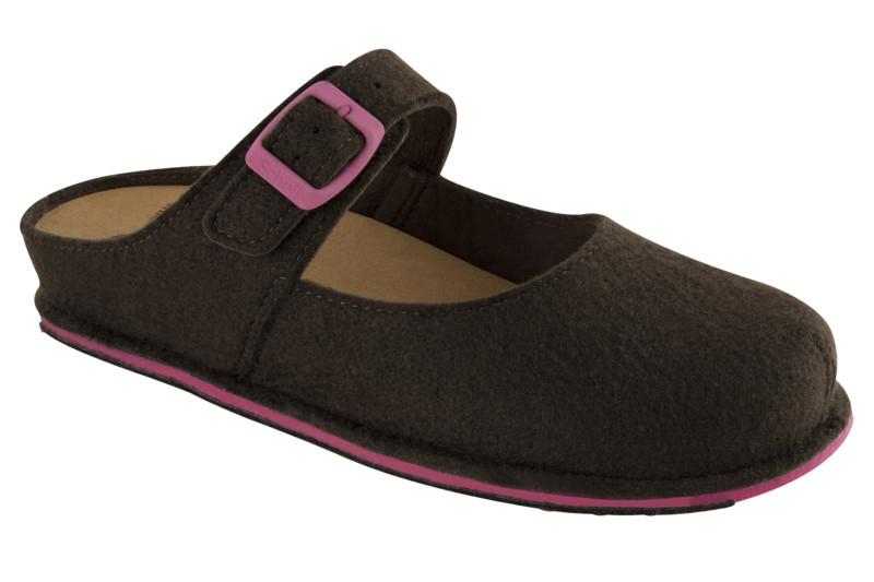Scholl SPIKEY2 tmavo hnedá domáca obuv