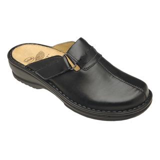 Agatha čierne kožené zdravotné papuče