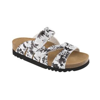 ALABAMA čierne / biele zdravotné papuče