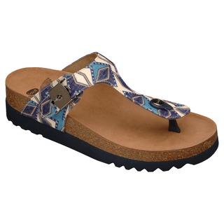 BOA VISTA INCA modré multi zdravotné papuče