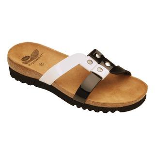 Ikel čierne / biele zdravotné papuče