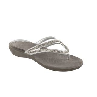LULU strieborné zdravotné papuče