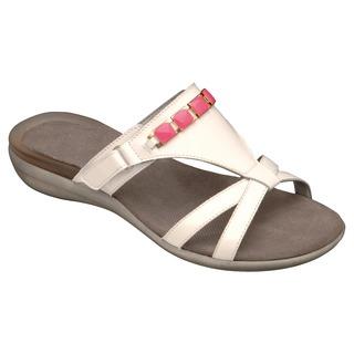 LYNN biele / ružové zdravotné papuče