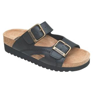 Moldava WEDGE AD - čierne zdravotné papuče
