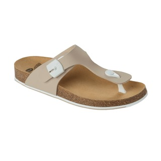 Spikee SS 5 - béžové / biele zdravotné papuče