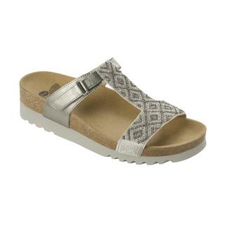 ASTRELL platinové / biele zdravotné papuče
