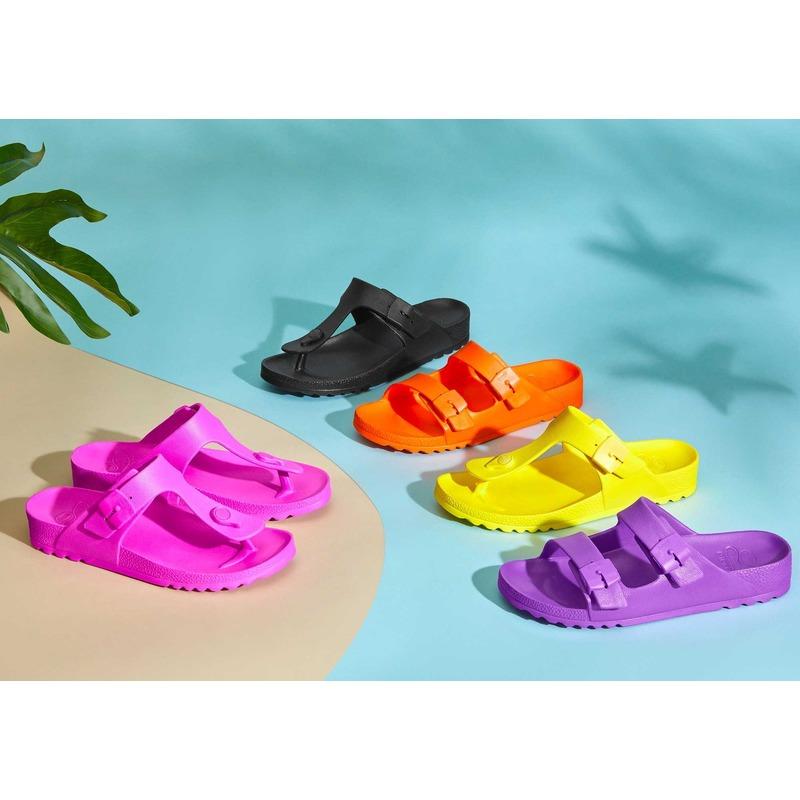 Scholl BAHIA - oranžové zdravotné papuče