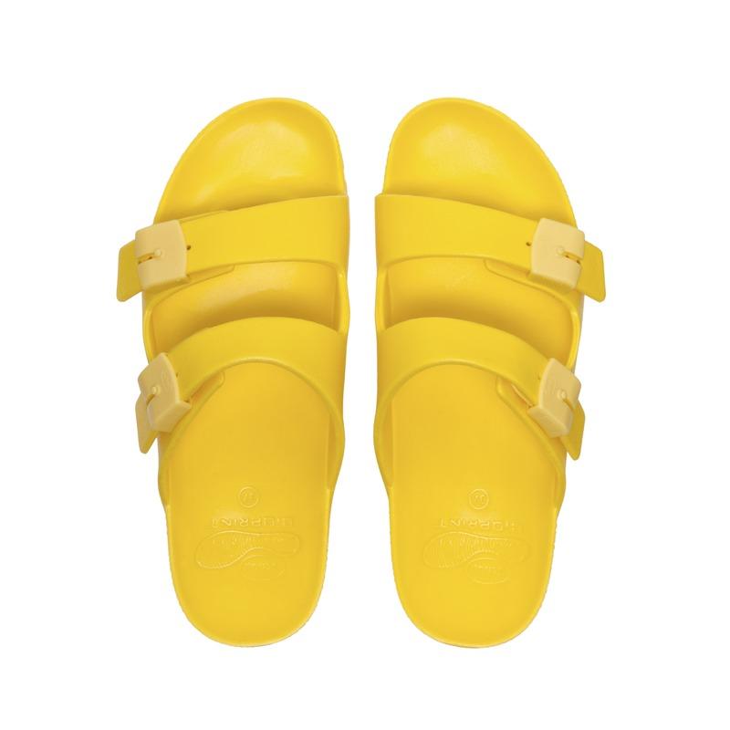 Scholl BAHIA - žlté zdravotné papuče