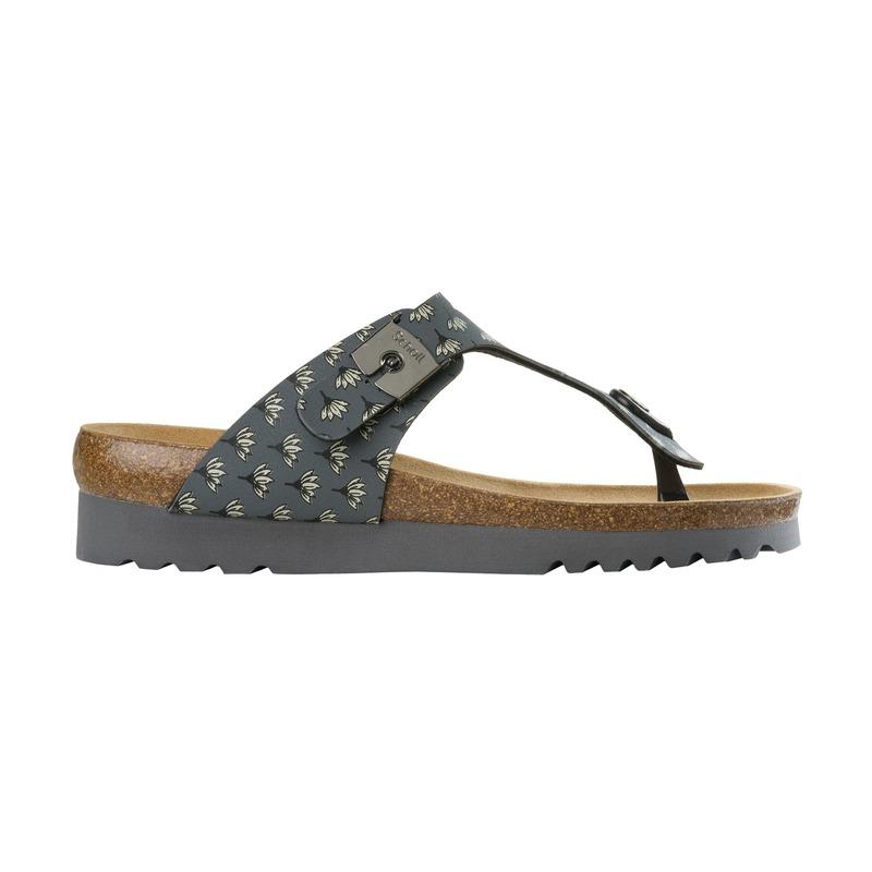 Scholl BOA VISTA UP tmavošedej zdravotné papuče