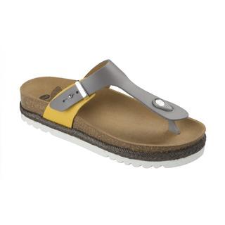 Idylle sivé / okrovej zdravotné papuče