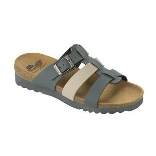 Kale tmavo šedé / béžové zdravotné papuče