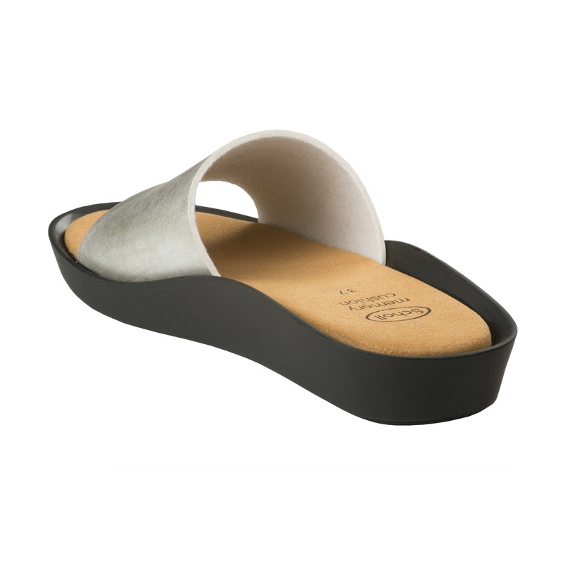 Scholl Meisse strieborné zdravotné papuče