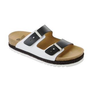 OLYMP čierne / biele zdravotné papuče
