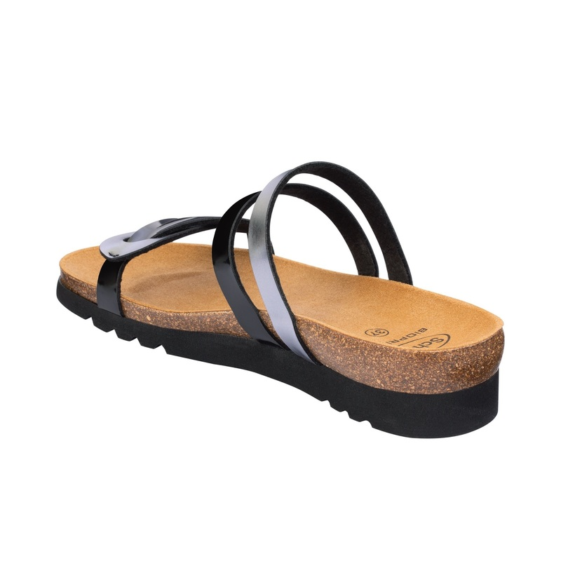 Scholl SOFIA čierno cínové zdravotné papuče