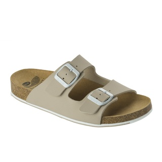 Spikee SS 6 - béžové / biele zdravotné papuče
