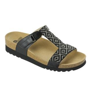 ASTRELL čierne / strieborné zdravotné papuče