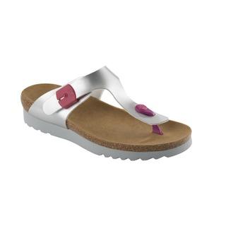 BOA VISTA UP strieborné / ružové zdravotné papuče