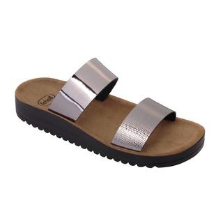 CYNTHIA cínová šeď zdravotné papuče