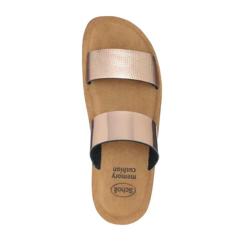 Scholl CYNTHIA ružovo zlaté zdravotné papuče