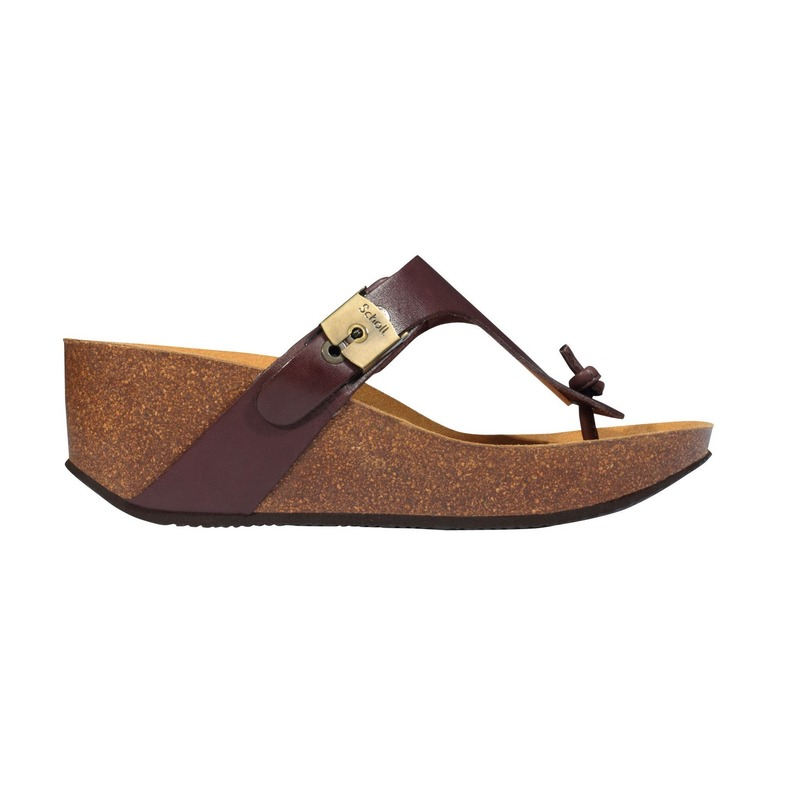 Scholl EDNA 2.0 - tmavo hnedé zdravotné papuče