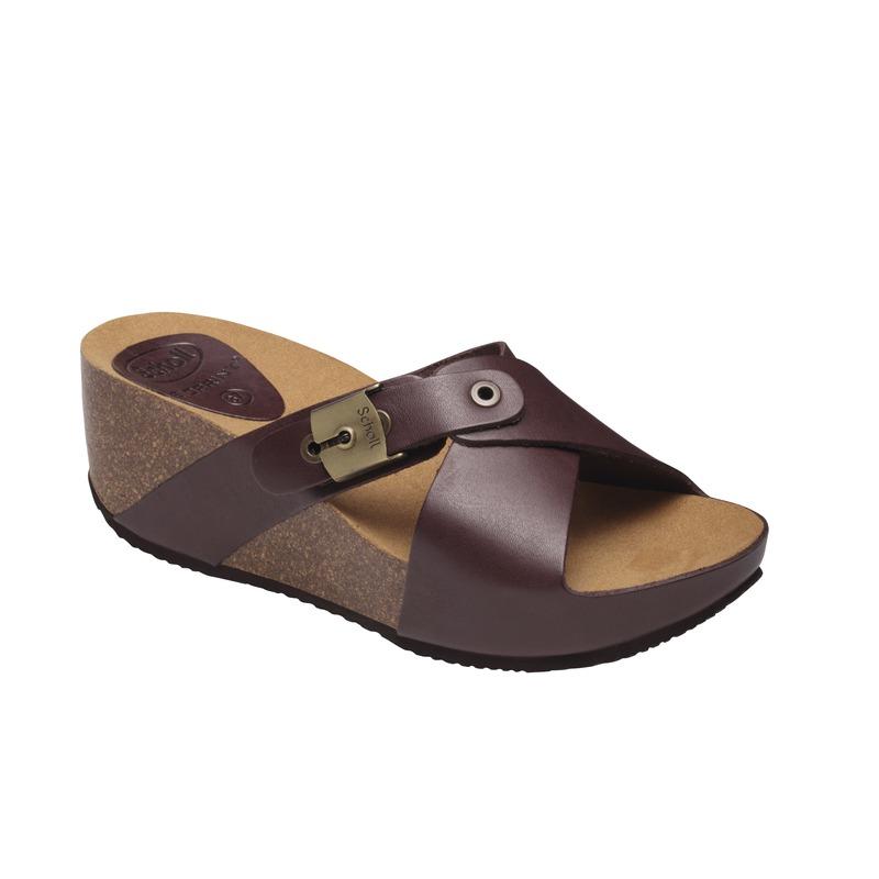 Scholl ELON 2.0 - tmavo hnedé zdravotné papuče