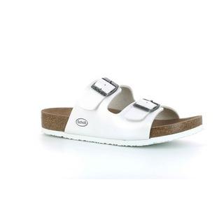 SHO AMELIA - perleťovo biele zdravotné papuče