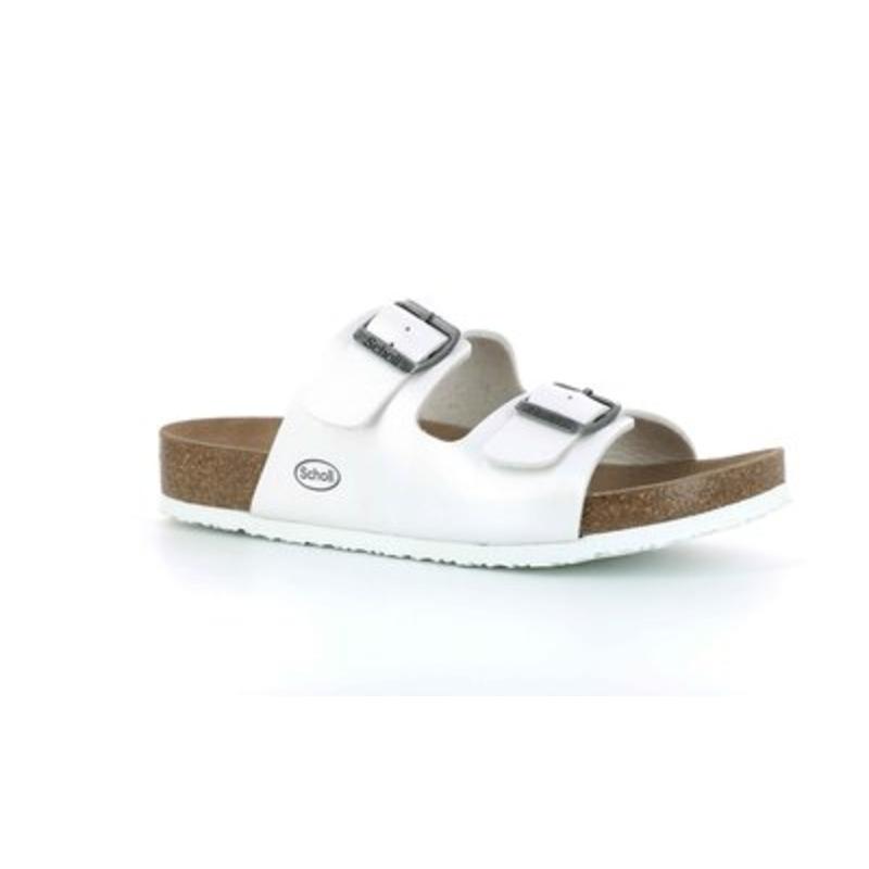 Scholl SHO AMELIA - perleťovo biele zdravotné papuče