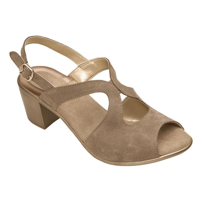 Scholl Jocelyne šedé semišové sandále
