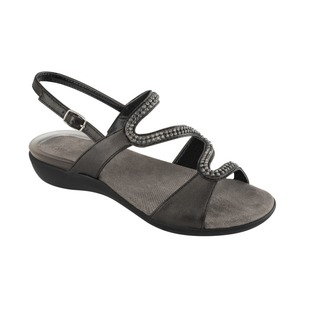 LINKOL čierne zdravotné sandále