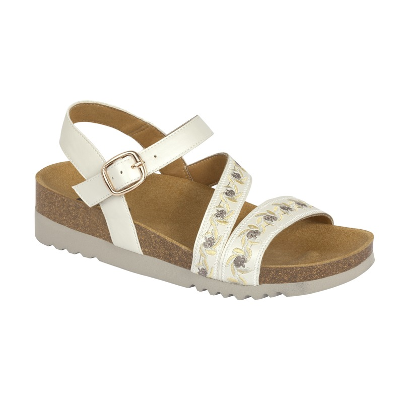 Scholl ADANNA SANDAL - biele sandále