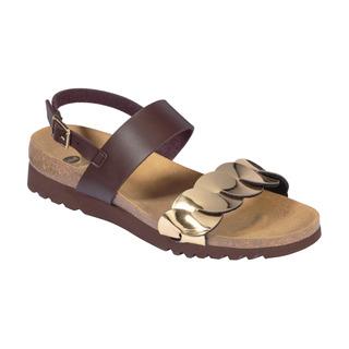 JADA SANDAL - hnedé zdravotné sandále