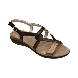 LORAINE čierne zdravotné sandále