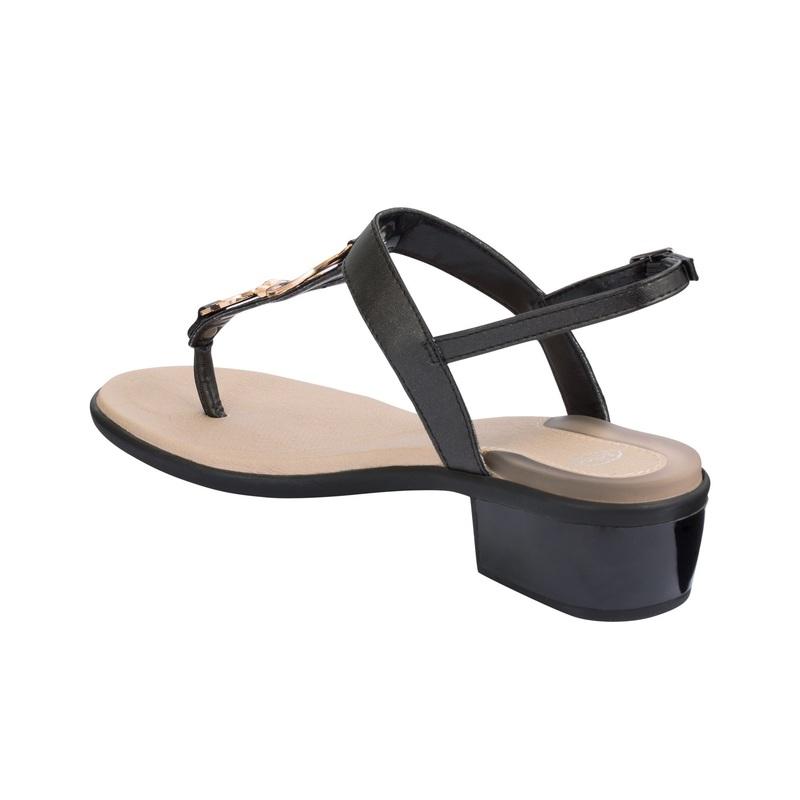 Scholl YOKO FLIP-FLOP čierne zdravotné sandále