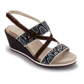 Bradu tmavo hnedé sandále